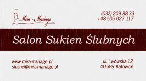 Salon Sukien Ślubnych Katowice Mira- Mariage