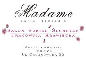 """Salon Sukien Ślubnych Pracownia Krawiecka """"Madame"""" Marta Jamrozik"""