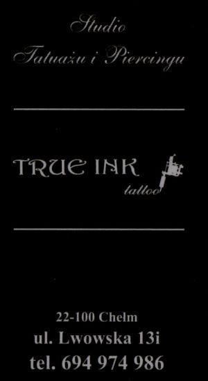 """Studio tatuażu i piercingu """"True Ink Tattoo"""""""