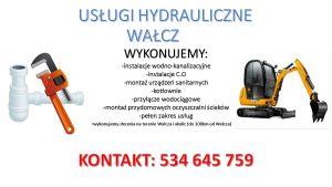 Usługi hydrauliczne, hydraulik Wałcz