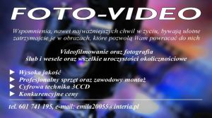 VIDEOFILMOWANIE kamerzysta i fotograf