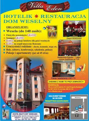 VILLA EDEN *HOTELIK*RESTAURACJA*DOM WESELNY*