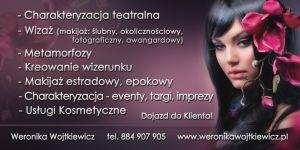 Weronika Wojtkiewicz Wizaż, Charakteryzacja, Kosmetyka