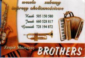 wesela , imprezy okolicznościowe zespół Brothers Ozorków
