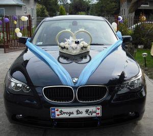 WYNAJEM SAMOCHODU DO ŚLUBU PIĘKNE BMW E60 KREMOWE SKÓRY!