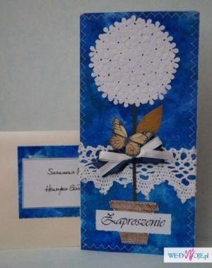 Zaproszenia ślubne handmade