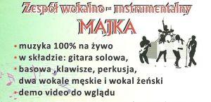 Zespół muzyczny MAJKA na wesele Konin Bydgoszcz Poznań