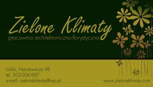 Zielone Klimaty - Pracownia architektoniczno-florystyczna