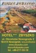 HOTEL ZBYSZKO*** w Nowogrodzie