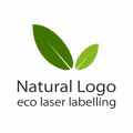 Natural Logo - jabłka z napisami