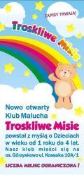 "Nowo otwarty KLUB MALUCHA ""TROSKLIWE MISIE"""