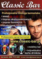 Barman na wesele, weselny bar-promocja do marca