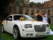 Bialy Chrysler 300c auto do ślubu (nie kremowy )koła 22cale