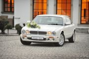 Biały Jaguar do wynajęcia,  samochód do ślubu,