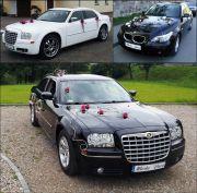 BMW 5 i Chrysler 300C biały i czarny