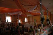 Dekoracja, wystrój sali weselnej i kościoła