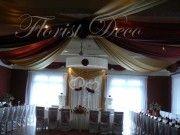 Dekoracje ślubne sal weselnych,kościołów,samochodów,kwiaty