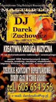 DJ,Konferansjer,Prezenter,Wodzirej-Darek Żuchowicz MASTERTON