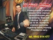 DJ Piotr Kuźma na wesele,studniowki,karaoke i inne imprezy