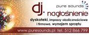 dj - PURE SOUNDS - nagłośnienie, oprawa akustyczna imprez
