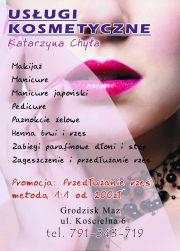 Katarzyna Chyła. Usługi kosmetyczne.