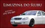 Limuzyną do Ślubu - Mercedes S-klasa wraz z kierowcą