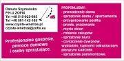 Profesjonalne gosposie, pomoce domowe i osoby sprzątające. Warszawa i okolice.