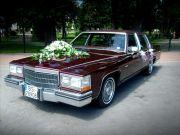 Samochód do ślubu - limuzyna Cadillac Fleetwood rocznik 1984.
