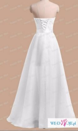 2 w 1 Suknia Ślubna -Sukienka rozcięcie 2015