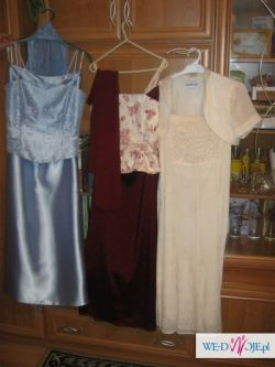 3 suknie wieczorowe