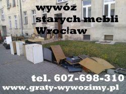 607 698 310 wywóz wersalek,meblościanek,starych mebli Wrocłąw