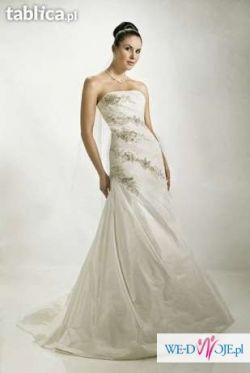 Agnes 10068 Piękna suknia ecru.