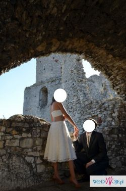 Agnes Kareen Suknia ślubna ecru z bolerkiem