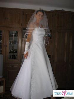 AGNESS! Elegancka biała suknia ślubna