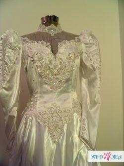 Amerykańska suknia z trenem rozm. 8