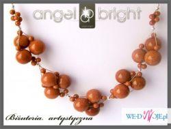 Angel Bright Naszyjnik piasek pustyni - srebro z kolekcji fashion