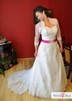 Atrakcyjna suknia+dodatki, super cena
