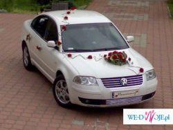 auto do ślubu samochód na wesele Biały Passat Limuzyna dekoracja Gratis!!!!!!!!!