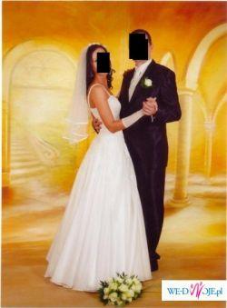 Bajeczna biała suknia ślubna