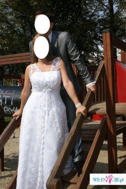 Bajeczna suknia Koronkowa + zestaw dodatków