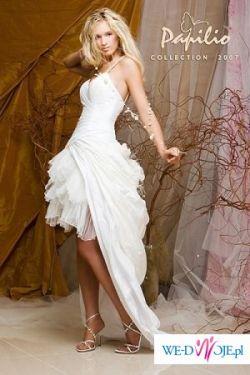 Bajeczna suknia Papilio 2 w 1 biała/ecru rozm. 40/42