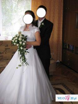 Bajeczna suknia ślubna + dodatki