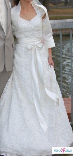 bajeczna suknia ślubna +GRATIS