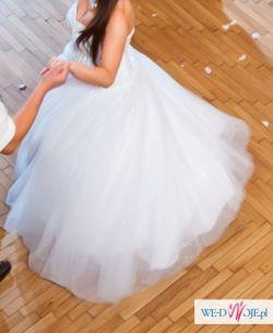 Bajeczna suknia ślubna PRINCESS model TRACY KRYSZTAŁKI