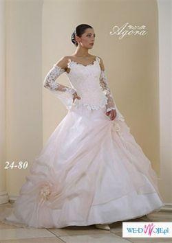 Bajeczna suknia ślubna renomowanej firmy Agora