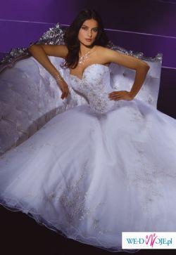 Bajkowa suknia demetrios 938 z trenem