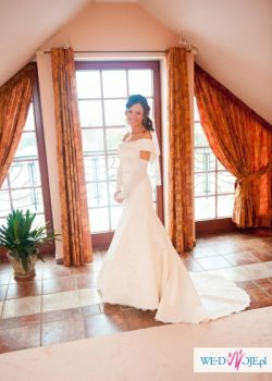 Bajkowa suknia ślubna + dodatki GRATIS!!! Komplet szyty na zamówienie!