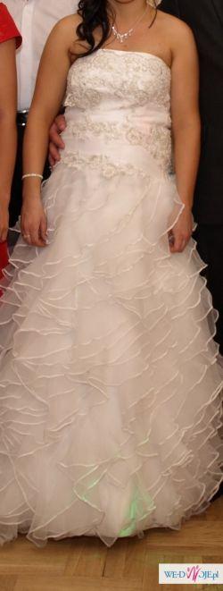 Bajkowa suknia ślubna! Gorąco polecam