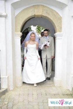 Bajkowa suknia ślubna Herms z Madonny - Kraków