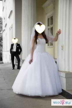 Bajkowa suknia ślubna princess